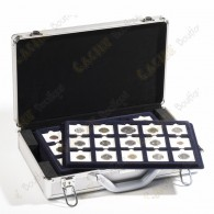 6 trays of 15 50 x 50 mm cases included, for a total of 90 coins.