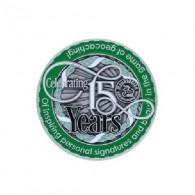 "Geocoin ""Moun10Bike 15 Year Tribute"""
