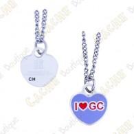 "Geocoin Necklace ""I love GC"""