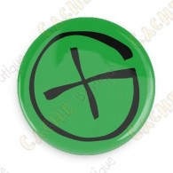 Geocaching button - Yellow
