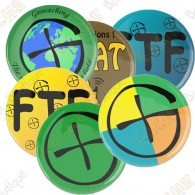 Geocaching button - World is our playing field