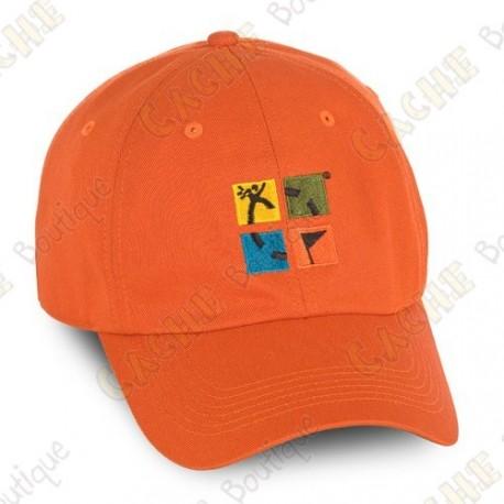 Boné logotipo Groundspeak - Cor de laranja