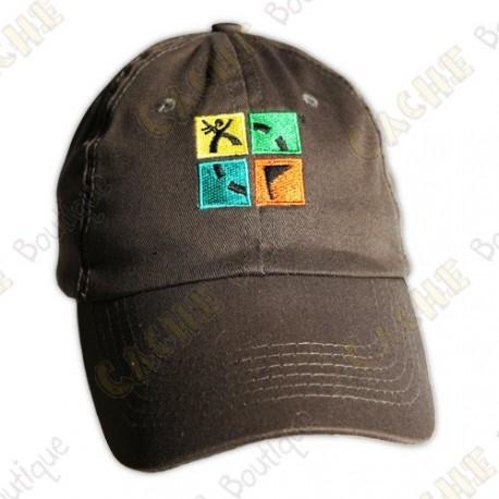 Gorra logo Groundspeak - Caqui