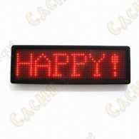 Badge avec message lumineux LED défilant