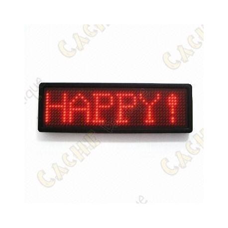 Insignia mensaje LED