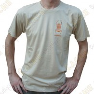 """T-Shirt """"Travel Bug"""" Trackable Homme - Sable"""
