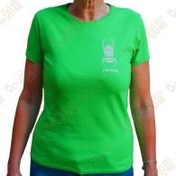"""T-Shirt """"Travel Bug"""" Trackable Femme - Vert"""