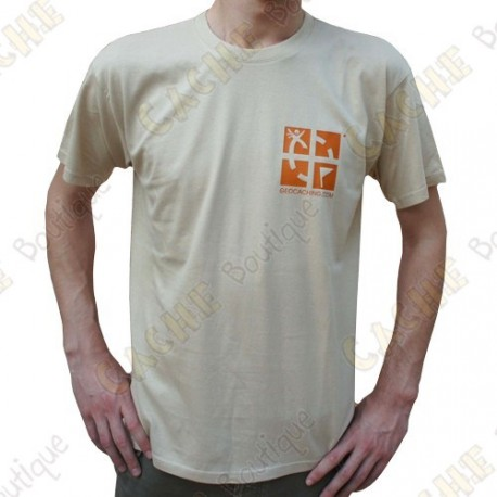 """T-Shirt """"Discover me"""" Trackable Homme - Sable"""