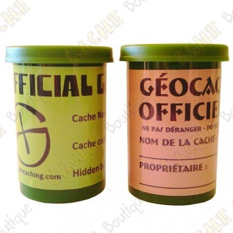 """Cache """"film canister"""" - Verde"""