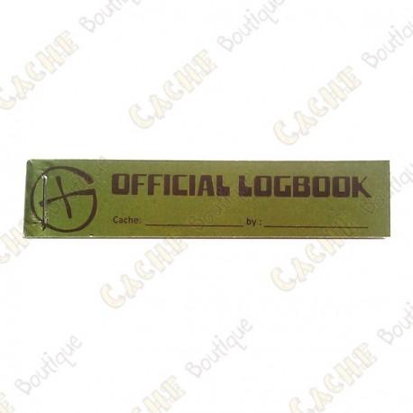 "Petit logbook ""Official Logbook"" pour PET"