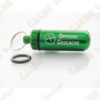 "Micro capsule ""Official Geocache"" 5 cm - Green"