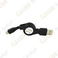 Câble rétractable USB - Micro USB