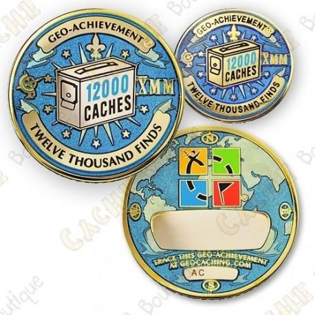 Geo Achievement® 12 000 Finds - Coin + Pin