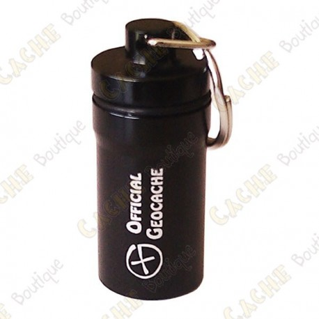 """Micro cache """"Official Geocache"""" 5,2 cm - Preta"""