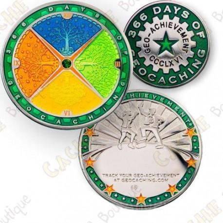Geo Achievement® 366 Days - Coin + Pin