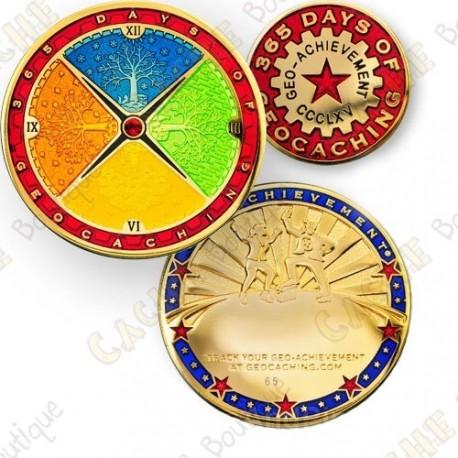 Geo Achievement® 365 Days - Coin + Pin