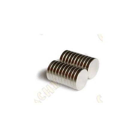 Imánes neodimios 12mm - Lote de 10