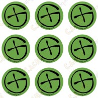 "Sticker Geo ""Round X-Small"" - Pack of 9"