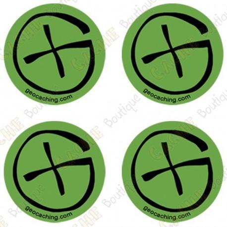 "Sticker Geo ""Round Small"" - Pack of 4"
