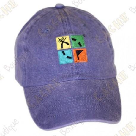 Groundspeak cap with logo - Stonewashed blue