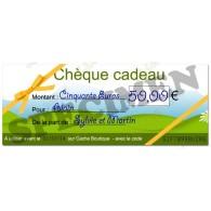Chèque cadeau - Valeur 50€
