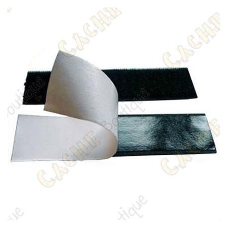 Velcro adhesivo 10 cm - Negro