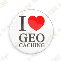 Crachá I love Geocaching