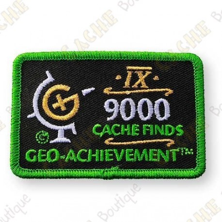 Geo Achievement® 9000 Finds - Patch