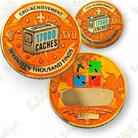 Geo Achievement® 17 000 Finds - Coin + Pin's