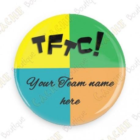 Chapa Team Name x 100 - Personalizada