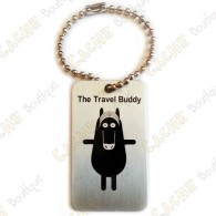 Travel Buddies are travel tags which really looks like TBs: they have the same shape, same size, have also a chain, and travel from cache to cache.