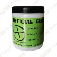 "Barril branco ""Official Geocache"" - 750ml"