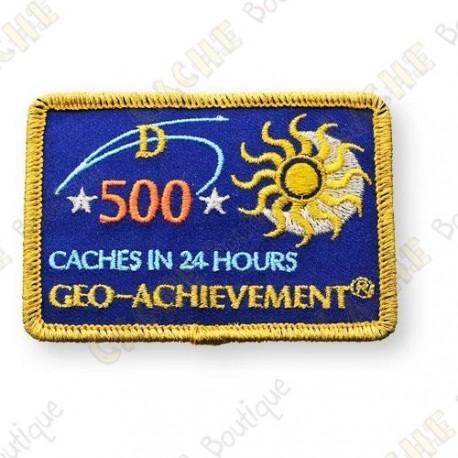 Geo Achievement® 24 Hours 500 Caches - Parche