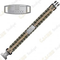 Trackable Paracord Bracelet - Geocaching - Khaki / Beige