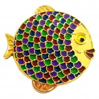 "Geocoin ""Rainbow Fish"" - Grape Gold LE"