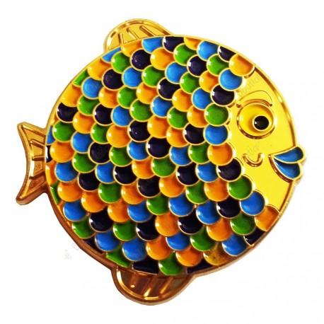 "Geocoin ""Rainbow Fish"" - Sunny Gold LE"