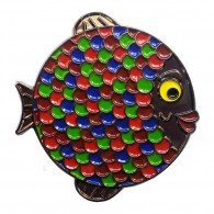 "Geocoin ""Rainbow Fish"" - Coral Black Nickel LE"