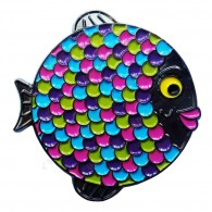 "Géocoin ""Rainbow Fish"" - Neon Black Nickel LE"