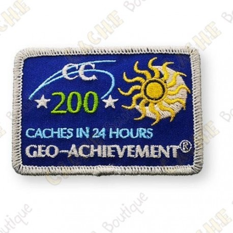 Geo Achievement® 24 Hours 200 Caches - Patch
