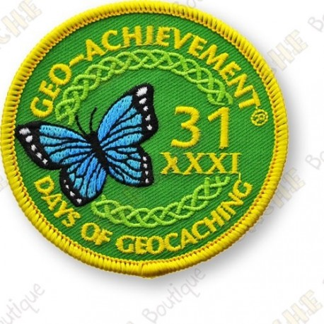 Geo Achievement® 31 Days of Geocaching - Patch