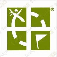 Grand sticker Groundspeak - Vert