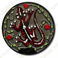 "Geocoin ""Gecko"" - Red White Black"