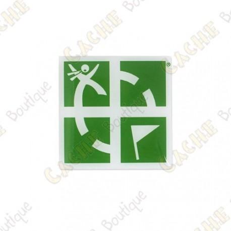 Pin's Groundspeak - Vert