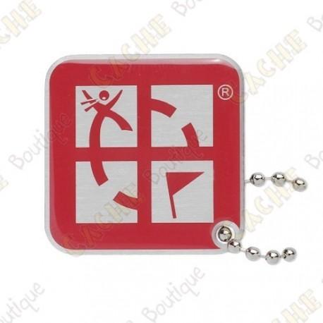 Traveler Logo Geocaching - Rouge