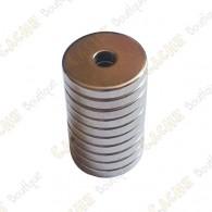 Magnet neodyme anneau 12x3x2mm