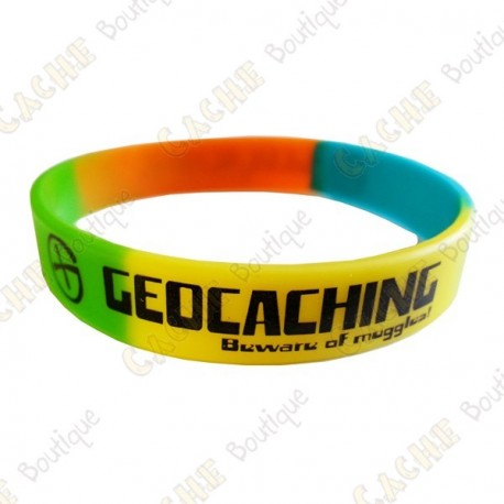 Pulseira de silicone Geocaching - Color