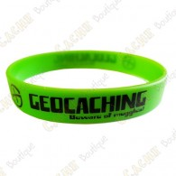 Geocaching silicone wristband - Green