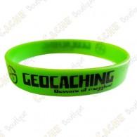 Pulsera de silicona Geocaching - Verde