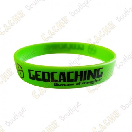 Geocaching silicone wristband for kids - Green