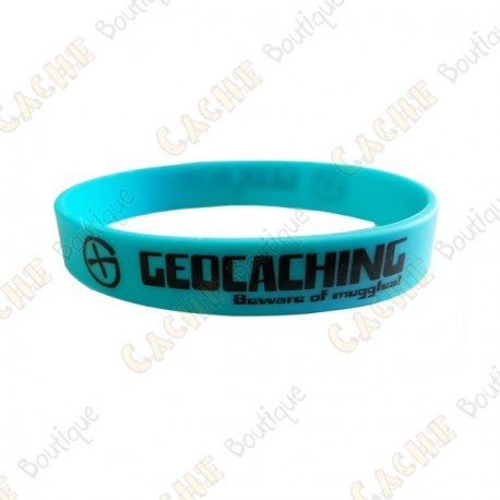 Pulseira de silicone Geocaching crianças - Azul